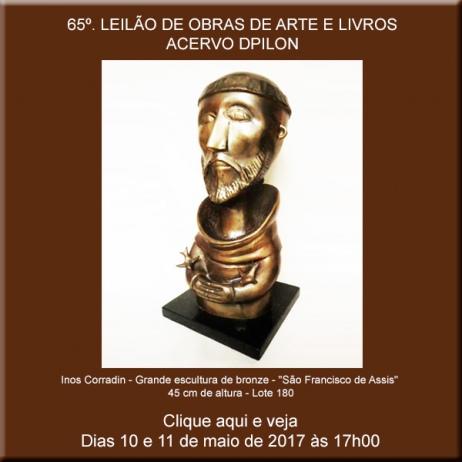 65º LEILÃO DE OBRAS DE ARTE E LIVROS - 10 e 11/05/2017