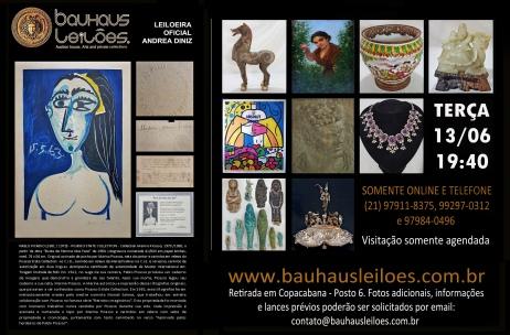 LEILÃO ANTIGUIDADES, CURIOSIDADES, DECOR E REMANESCENTES - BAUHAUS AUCTION HOUSE