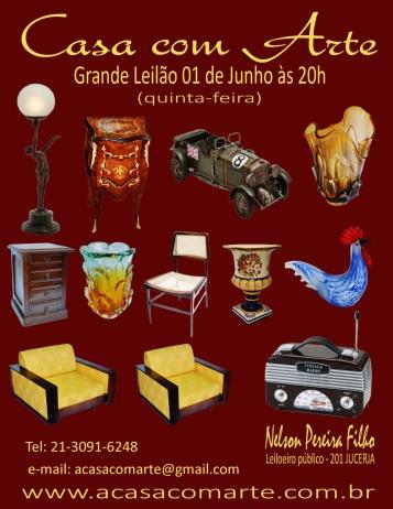 LEILÃO CASA COM ARTE -  JUNHO 2017