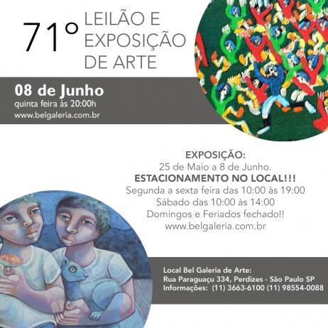71º BEL GALERIA DE ARTE - 8 de Junho as 20:00