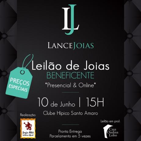 Leilão de Jóias Beneficente - Lance Jóias