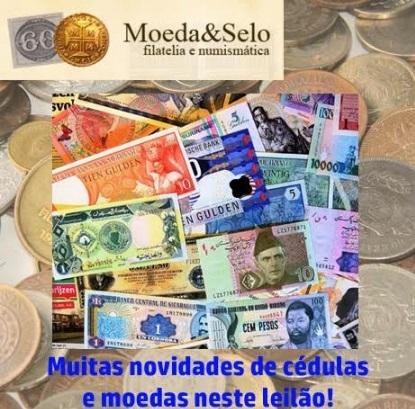 148 - LEILÃO MOEDA E SELO  DEZENAS DE LOTES INICIANDO A 1 REAL  !