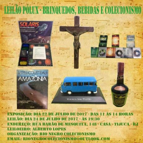 LEILÃO PÓLUX - BRINQUEDOS, BEBIDAS E COLECIONISMO
