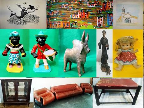 ART LUZ LEILÃO  -  QUADROS , BRINQUEDOS,  MÓVEIS E ARTE POPULAR.