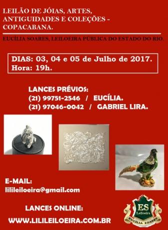 LEILÃO DE JÓIAS, ARTE, ANTIGUIDADES E COLEÇÕES - COPACABANA