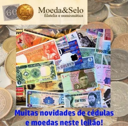 151 - LEILÃO MOEDA E SELO - COM CENTENAS DE LOTES A PREÇO LIVRE   !