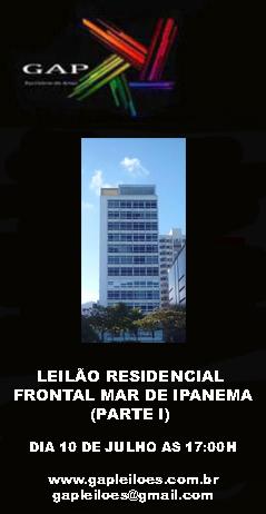 LEILÃO RESIDENCIAL FRONTAL MAR DE IPANEMA PARTE I