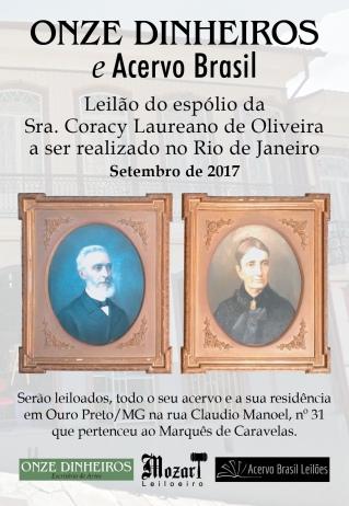 LEILÃO DO ESPÓLIO DA Sra. CORACY LAUREANO DE OLIVEIRA
