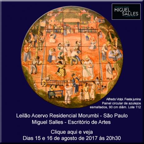 Miguel Salles Escritório de Artes - Leilão Acervo Residencial Morumbi - 15 e 16/08/2017