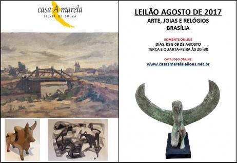 LEILÃO DE ARTE, JOIAS E ANTIGUIDADES - BRASÍLIA
