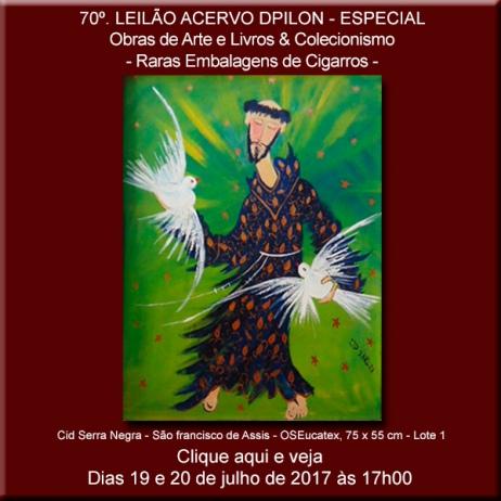 70º - Leilão Acervo DPilon - Obras de Arte e Livros & Colecionismo - Raras Embalagens de Cigarros