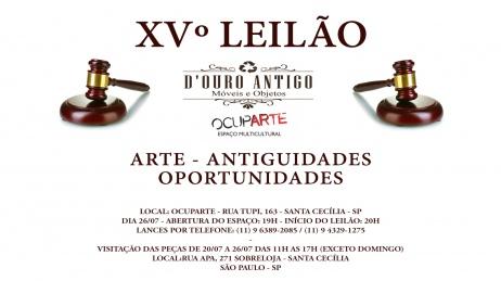 XVº LEILÃO - ARTE - ANTIGUIDADES - OPORTUNIDADES