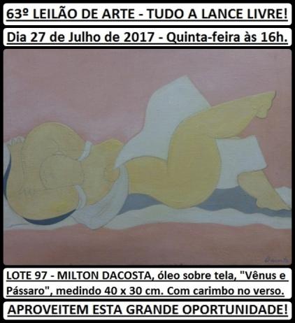 63º LEILÃO DE ARTE - TUDO A LANCE LIVRE!