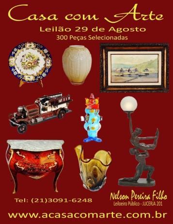 LEILÃO CASA COM ARTE  -  AGOSTO 2017