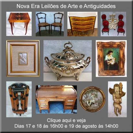 Leilão de Arte, Antiguidades e Curiosidades - Nova Era Leilões - dias 17, 18 e 19/08/2017
