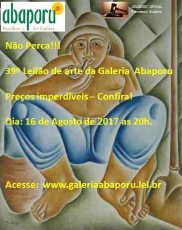 39º LEILÃO DA ABAPORU BRAZILLIANS ART GALLERY