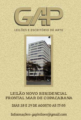 LEILÃO NOVO RESIDENCIAL FRONTAL MAR DE COPACABANA