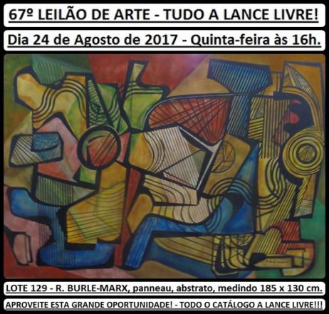 67º LEILÃO DE ARTE - TUDO A LANCE LIVRE!