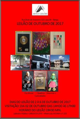 LEILÃO DE OUTUBRO DE 2017