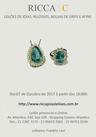 RICCA - LEILÃO DE JÓIAS - OUTUBRO DE 2017
