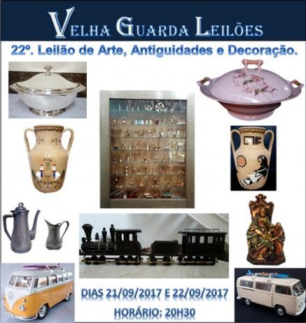 VELHA GUARDA LEILÕES - 22º Leilão de Arte, Antiguidades, Decoração  e Colecionismo