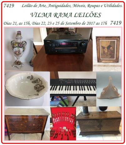 7419 - Leilão de Arte, Antiguidades, Móveis, Roupas, Utilidades e Vinil.