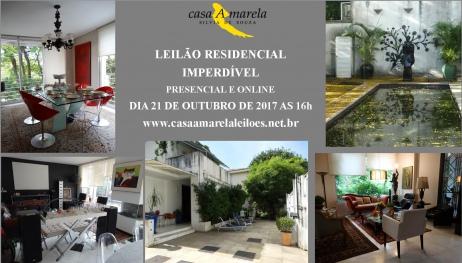LEILÃO RESIDENCIAL - PRESENCIAL E ONLINE