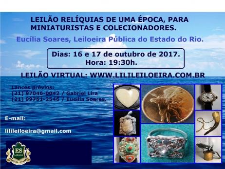 LEILÃO RELÍQUIAS DE UMA ÉPOCA, PARA MINIATURISTAS E COLECIONADORES