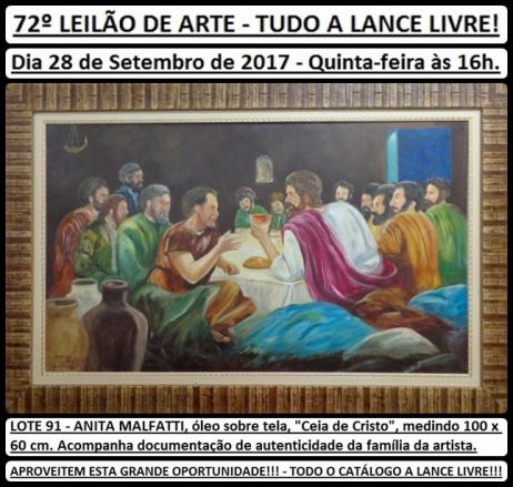 72º LEILÃO DE ARTE - TUDO A LANCE LIVRE!
