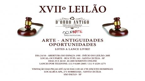 XVIIº LEILÃO DE ARTE - ANTIGUIDADES - OPORTUNIDADES