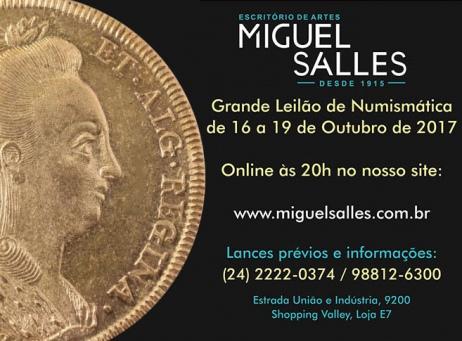 Miguel Salles Escritório de Artes - Leilão de Numismática - 16 a 19/10/2017