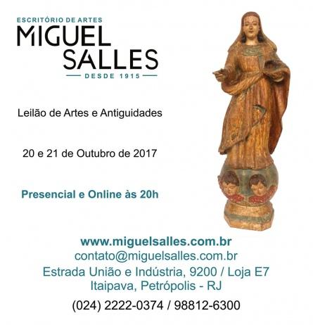 LEILÃO DE ARTE E ANTIGUIDADES - ESPAÇO DE ARTES MIGUEL SALLES