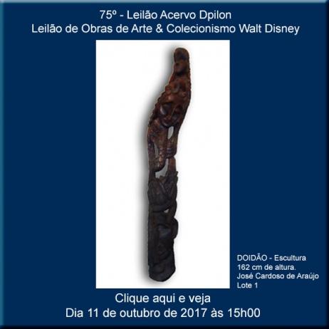 75º - Leilão de Obras de Arte & Colecionismo Walt Disney - Acervo DPilon - 11/10/2017