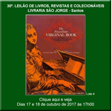 30º. Leilão de Livros, Revistas e Colecionáveis - Livraria São Jorge - Santos 17 e 18/10/2017