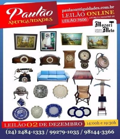 LEILÃO DE DEZEMBRO -  PAULÃO ANTIGUIDADES - MIGUEL PEREIRA - RJ