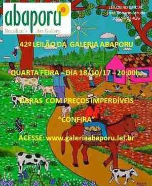 42º Leilão da Abaporu Brazilians Art Gallery