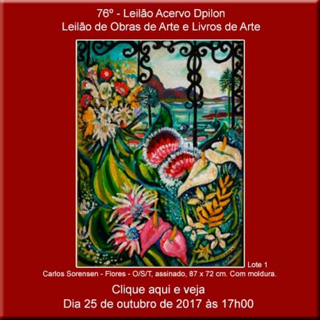 76º - Leilão de Obras de Arte e Livros de Arte - Acervo DPilon - 25/10/2017