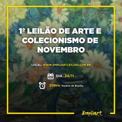 1º Leilão de Arte e Colecionismo de Novembro