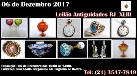 LEILÃO ANTIGUIDADES RJ XLIII