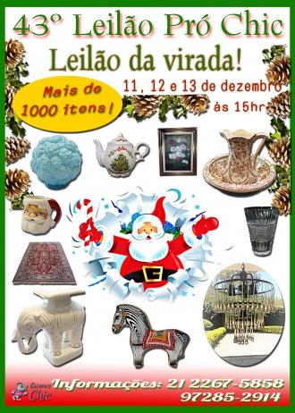 43º Leilão PRÓ CHIC -Leilao da virada mais de 1000 itens