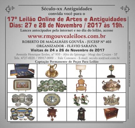17º Leilão de Arte e Antiguidades - SÉCULO XX - 27 e 28/11/2017