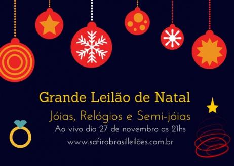 GRANDE LEILÃO DE NATAL DE JOIAS ,RELÓGIOS E SEMI-JÓIAS