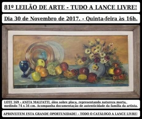 81º LEILÃO DE ARTE - TUDO A LANCE LIVRE!