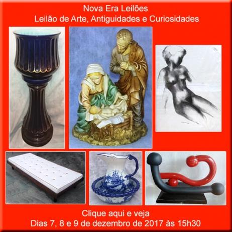 Leilão de Arte, Antiguidades e Curiosidades - Nova Era Leilões - 7, 8 e 9/12/2017
