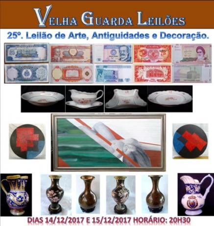 VELHA GUARDA LEILÕES - 25º Leilão de Antiguidades, Arte, Decoração e Colecionismo.