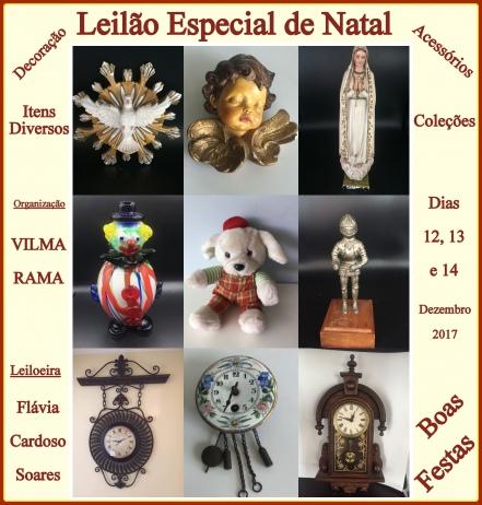 LEILÃO ESPECIAL DE NATAL - ITENS DIVERSOS, COLEÇÕES, DECORAÇÕES E ACESSÓRIOS