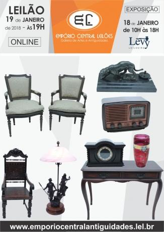 LEILÃO DE ARTE ANTIGUIDADES EMPÓRIO CENTRAL TEL: 21-97571-6445/ 97417-2652