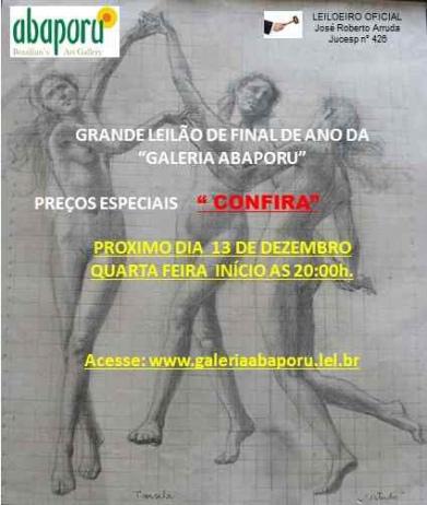 44º Leilão da Abaporu Brazilians Art Gallery