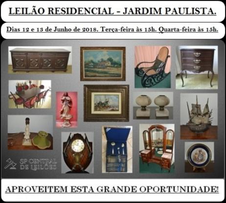 LEILÃO RESIDENCIAL - JARDIM PAULISTA.