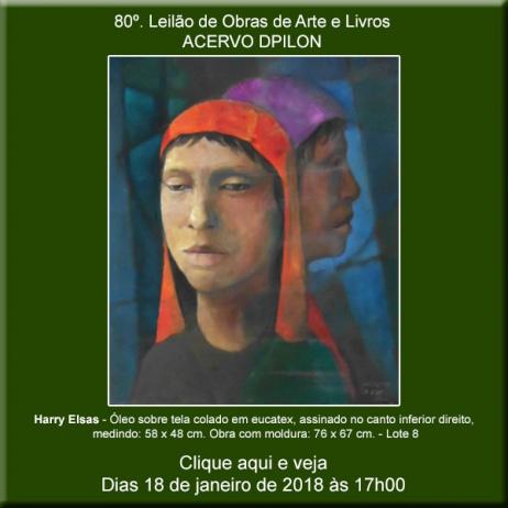 80º - Leilão de Obras de Arte e Livros - Acervo DPilon - 18/01/2018